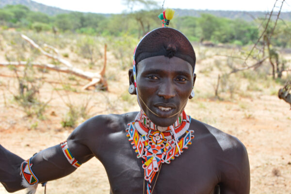 Samburu tribal warrior