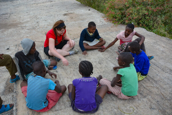 Music with children from the village