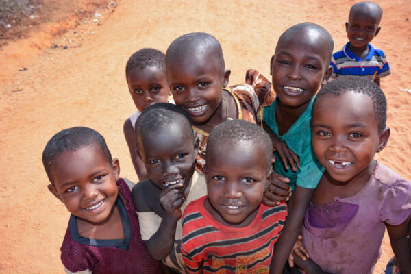 Children from Sereolipi village